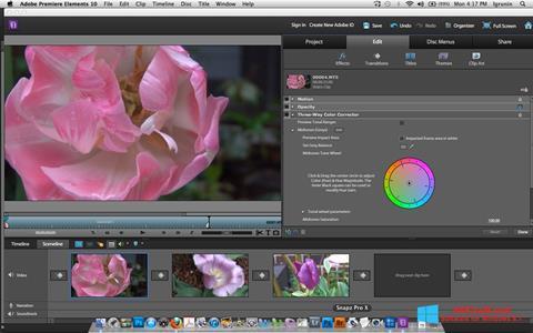 Captura de pantalla Adobe Premiere Elements para Windows 8.1