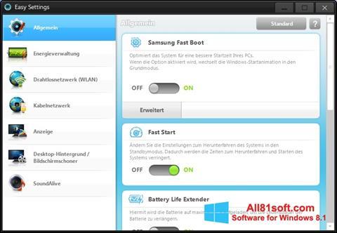 Captura de pantalla Easy Settings para Windows 8.1