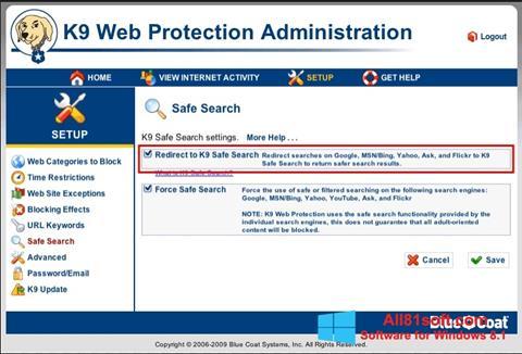 Captura de pantalla K9 Web Protection para Windows 8.1