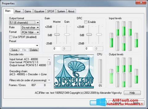 Captura de pantalla AC3Filter para Windows 8.1