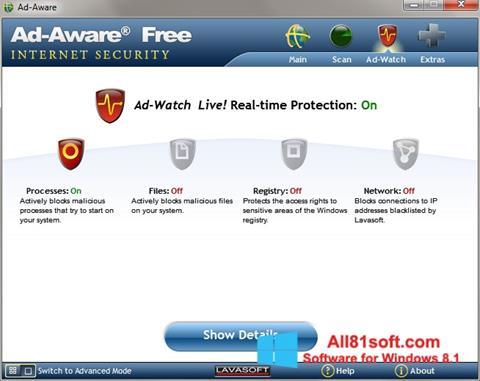 Captura de pantalla Ad-Aware para Windows 8.1