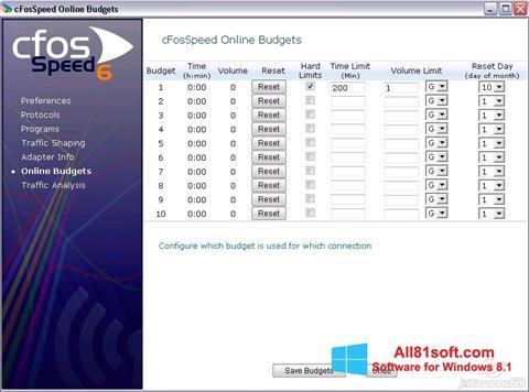 Captura de pantalla cFosSpeed para Windows 8.1