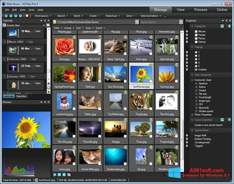 Captura de pantalla ACDSee para Windows 8.1