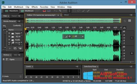 Captura de pantalla Adobe Audition CC para Windows 8.1