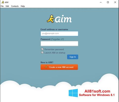Captura de pantalla AOL Instant Messenger para Windows 8.1