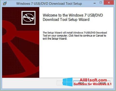 Captura de pantalla Windows 7 USB DVD Download Tool para Windows 8.1