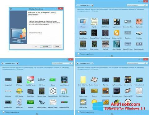 Captura de pantalla 8GadgetPack para Windows 8.1