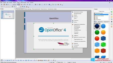 Captura de pantalla Apache OpenOffice para Windows 8.1