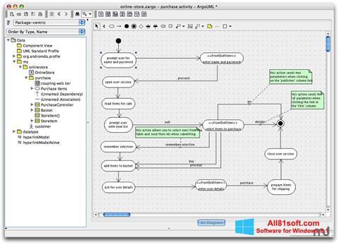 Captura de pantalla ArgoUML para Windows 8.1