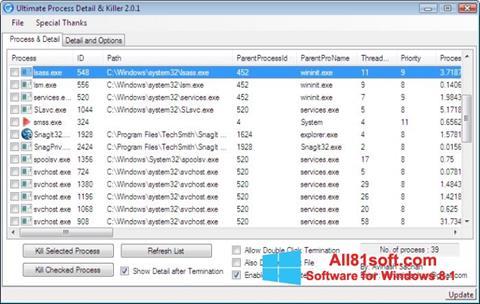 Captura de pantalla Process Killer para Windows 8.1