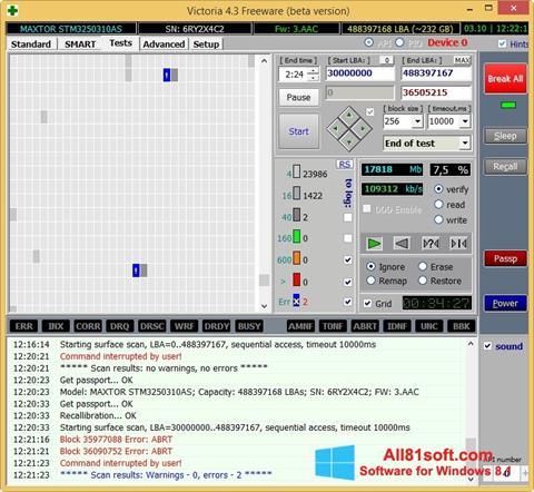 Captura de pantalla Victoria para Windows 8.1