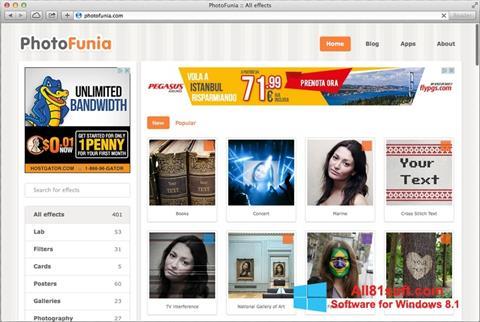 Captura de pantalla PhotoFunia para Windows 8.1