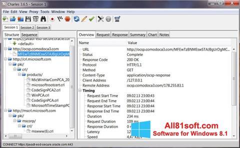 Captura de pantalla Charles para Windows 8.1