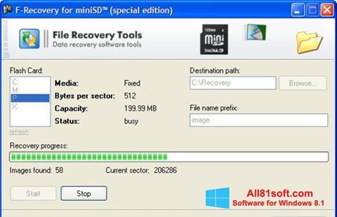 Captura de pantalla F-Recovery SD para Windows 8.1