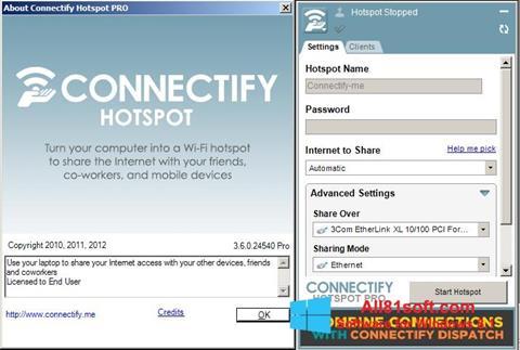 Captura de pantalla Connectify para Windows 8.1