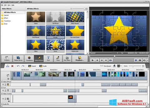 Captura de pantalla AVS Video Editor para Windows 8.1