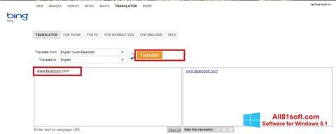 Captura de pantalla Bing Translator para Windows 8.1