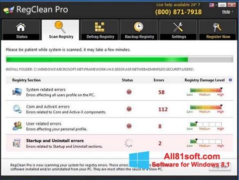 Captura de pantalla RegClean Pro para Windows 8.1