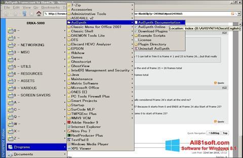 Captura de pantalla AviSynth para Windows 8.1