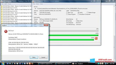 Captura de pantalla ImgBurn para Windows 8.1