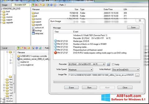 Captura de pantalla UltraISO para Windows 8.1