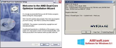 Captura de pantalla AMD Dual Core Optimizer para Windows 8.1