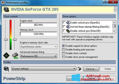 Captura de pantalla PowerStrip para Windows 8.1