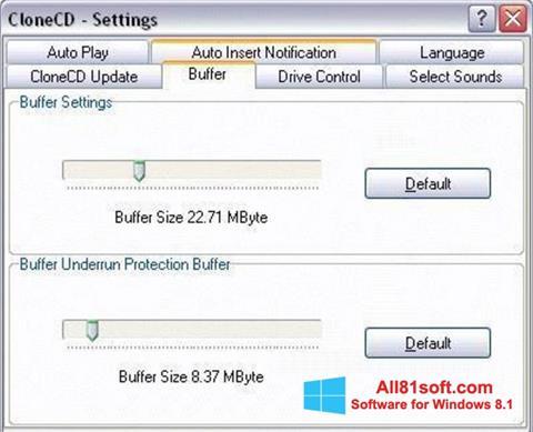 Captura de pantalla CloneCD para Windows 8.1