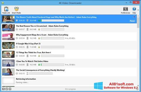 Captura de pantalla 4K Video Downloader para Windows 8.1