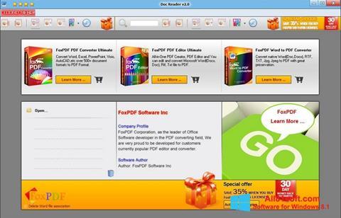 Captura de pantalla Doc Reader para Windows 8.1