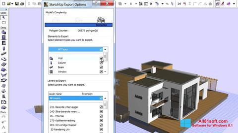 Captura de pantalla ArchiCAD para Windows 8.1