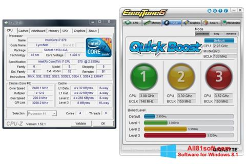 Captura de pantalla EasyTune para Windows 8.1