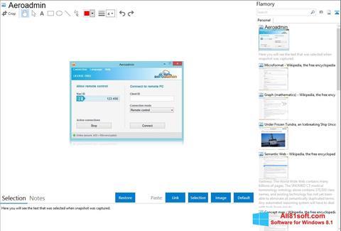 Captura de pantalla AeroAdmin para Windows 8.1