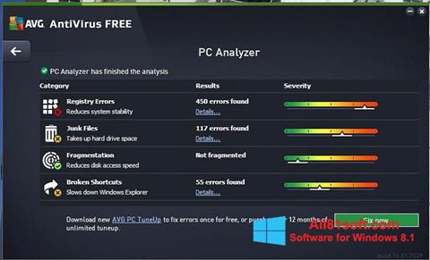 Captura de pantalla AVG AntiVirus Free para Windows 8.1
