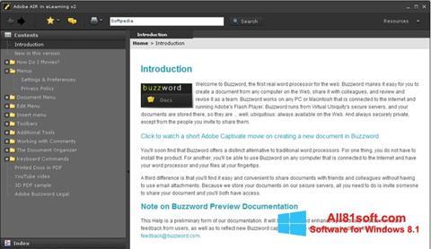 Captura de pantalla Adobe AIR para Windows 8.1