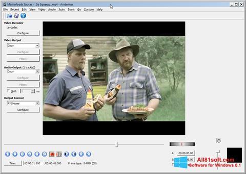 Captura de pantalla Avidemux para Windows 8.1