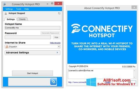 Captura de pantalla Connectify Pro para Windows 8.1