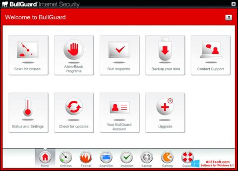 Captura de pantalla BullGuard para Windows 8.1