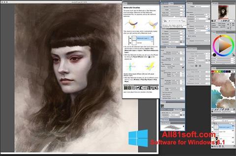 Captura de pantalla Corel Painter para Windows 8.1