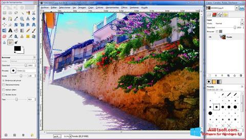 Captura de pantalla GIMP para Windows 8.1