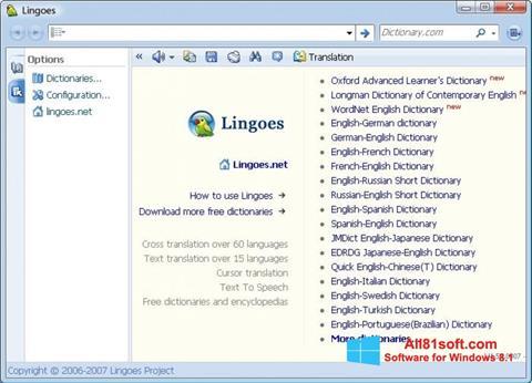 Captura de pantalla Lingoes para Windows 8.1