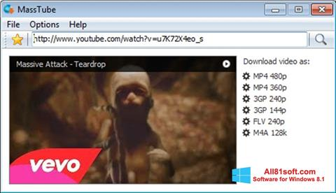 Captura de pantalla MassTube para Windows 8.1