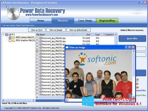 Captura de pantalla Power Data Recovery para Windows 8.1