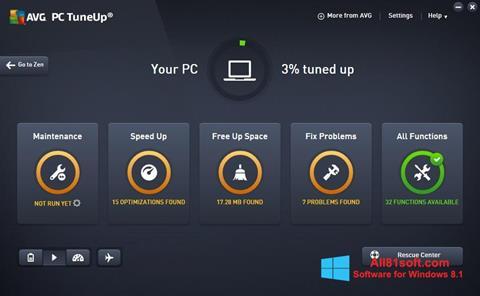 Captura de pantalla AVG PC Tuneup para Windows 8.1