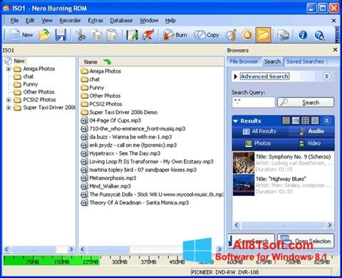 Captura de pantalla Nero Burning ROM para Windows 8.1