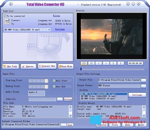 Captura de pantalla Total Video Converter para Windows 8.1