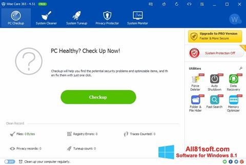 Captura de pantalla Wise Care 365 para Windows 8.1