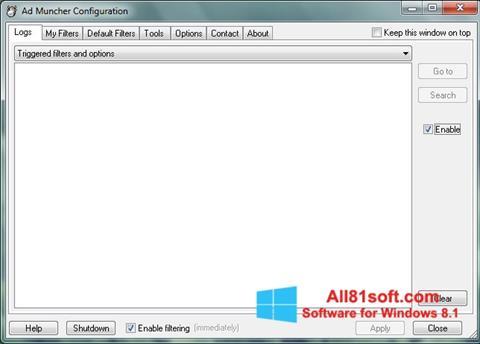 Captura de pantalla Ad Muncher para Windows 8.1