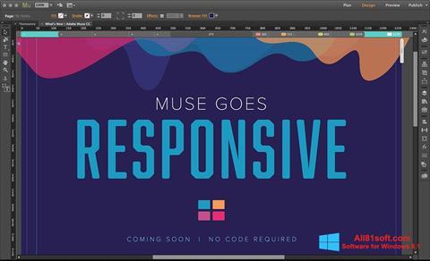 Captura de pantalla Adobe Muse para Windows 8.1