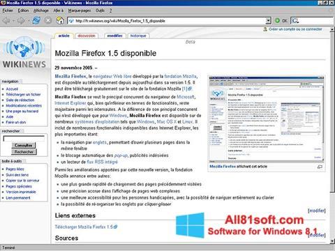 Captura de pantalla Mozilla Firefox para Windows 8.1
